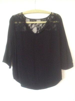 schwarze Bluse mit Spitze, Vero Moda, Gr. M 36 /38