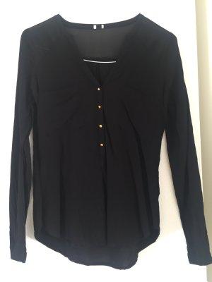 Schwarze Bluse mit Transparenten Details