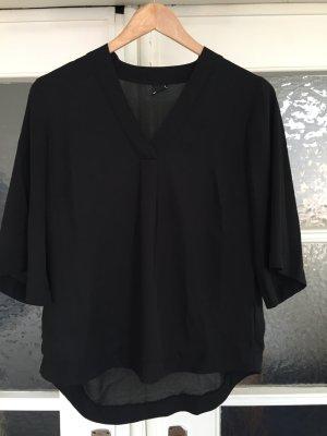 Schwarze Bluse mit V-Ausschnitt von Gina Tricot