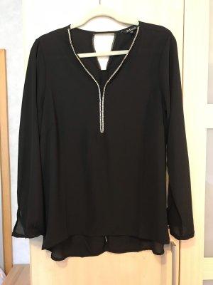 Schwarze Bluse mit Verzierungen