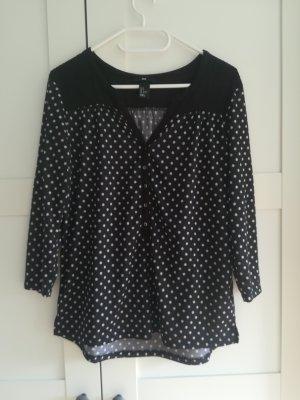 Schwarze Bluse mit weißen Punkten