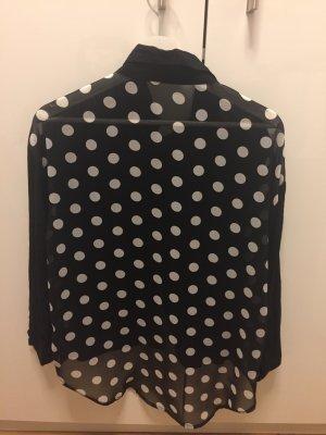 Schwarze Bluse mit weißen Punkten, in Größe S!