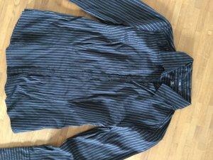 Schwarze Bluse mit weißen Streifen von H&M, Gr. 38