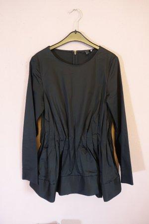 COS Blouse à manches longues noir tissu mixte
