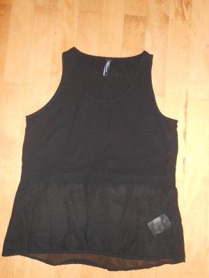Schwarze Bluse ohne Ärmel in Größe S