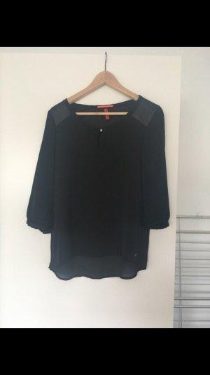 schwarze Bluse QS s.oliver Größe 34
