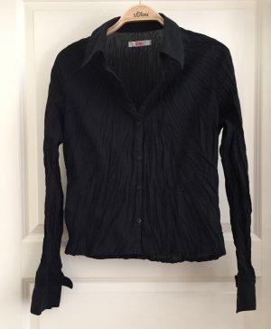 schwarze Bluse S.Oliver, neuwertig, Boho, Knitter-Look, Stick, Gr. 36