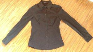 Schwarze Bluse tailliert Größe S