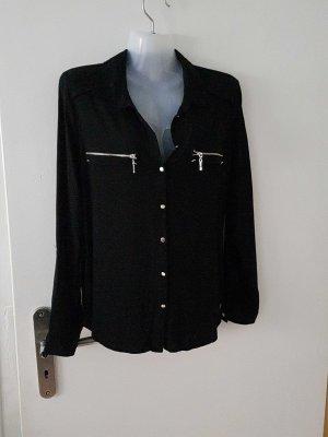 schwarze Bluse von Ashley Brooke