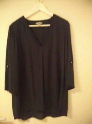 Schwarze Bluse von H&M mit V-Ausschnitt