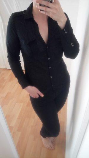 schwarze Bluse von Mango Gr. 42