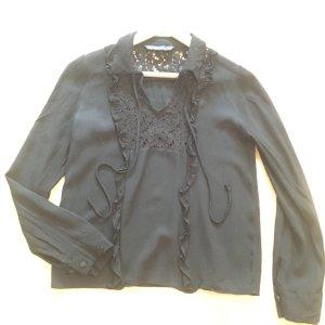 schwarze Bluse von Zara, M / 38