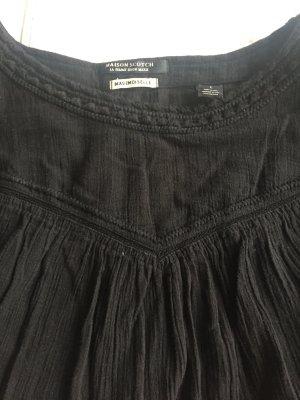 Schwarze Boho Look Kleid mit Unterkleid von Scotch and Soda, S