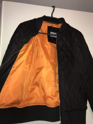 Snipes Bomber Jacket black-neon orange