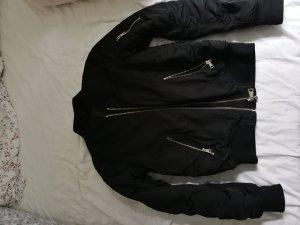 Topshop Bomber Jacket black-gold-colored