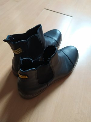 Catwalk Chelsea laarzen zwart-zandig bruin