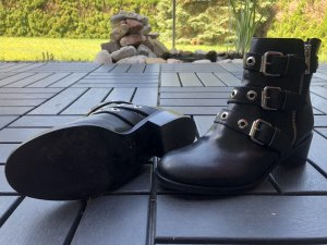Schwarze Boots Diesel Black Gold 36