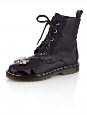 Alba Moda Lace-up Boots black leather