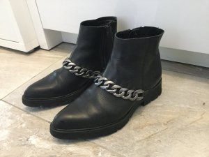 Bronx Boots black-silver-colored leather