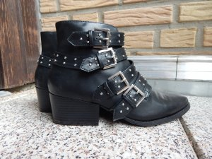 Forever 21 Boots black-silver-colored