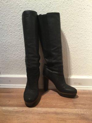 Boss Orange Platform Boots black-anthracite