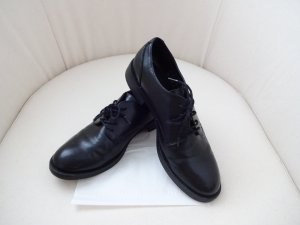 schwarze boyfriend Schuhe schick