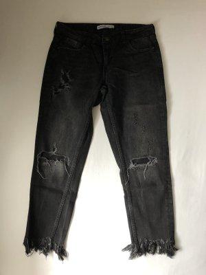 Zara Pantalon boyfriend noir