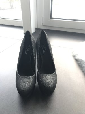 Schwarze Brokat High Heels Blink Gr.39