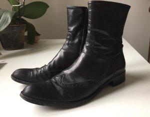 Schwarze Budapester-Stiefel * Attilio Giusti Lembruni * Größe 38 * Stylish & gemütlich