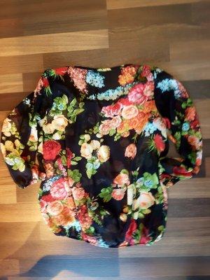 Schwarze Bümchen-Bluse