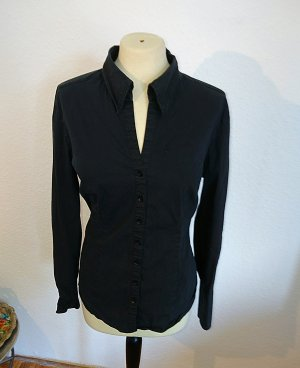 Schwarze Business Bluse