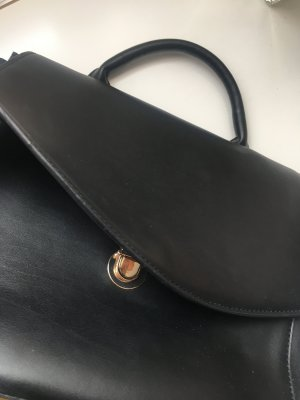 H&M Bolso business negro-color oro