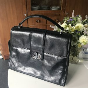 Business Bag black-silver-colored