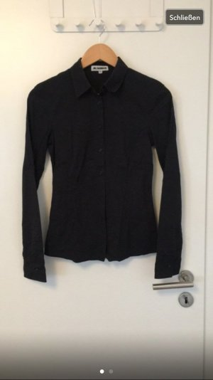 Schwarze Businessbluse