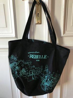Schwarze Canvas Tasche von Rebelle mit Innentasche