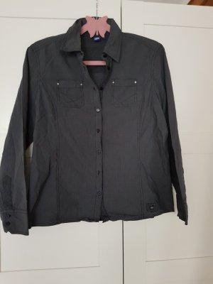 schwarze Cecil Bluse Gr.L mit feinen weißen Streifen