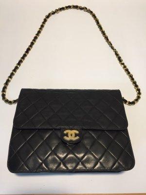 Chanel Handtas zwart-goud Leer