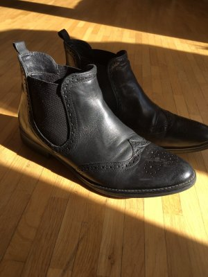 5th Avenue Chelsea Boots black leather