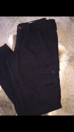 Monocrom Pantalone di lana nero
