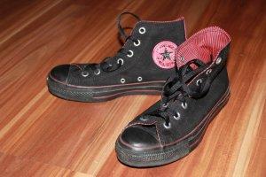 schwarze Chucks (Converse) aus Stoff - nur 1x getragen! mit Original-Karton