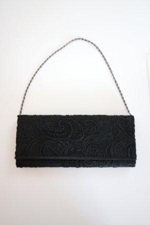 Clutch black synthetic fibre