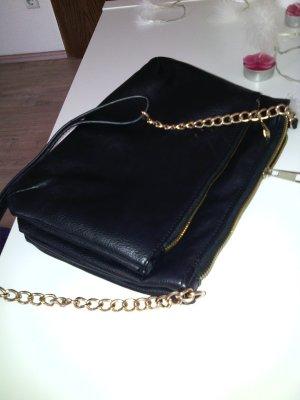 Schwarze Clutch-Tasche