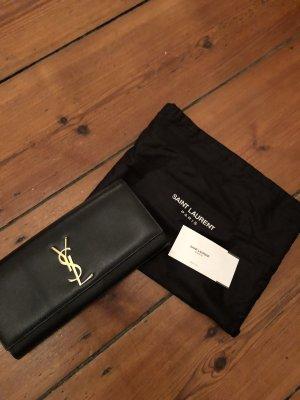 Schwarze Clutch von Saint Laurent Monogram Abendtasche in Schwarz YSL