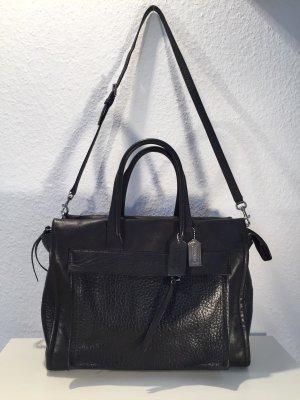 Schwarze COACH Handtasche aus Leder - Business-Look