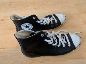 Schwarze Converse Chuck Tailor All Star High Top aus Leder, Gr. 40,5