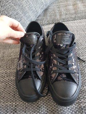 schwarze Converse Chucks Glitzer, 36,5 , neu