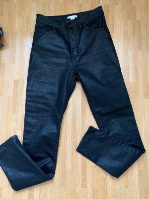 H&M Hoge taille broek zwart
