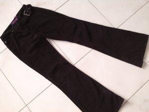 schwarze Cord-Hose,warme Hose,Schlaghose,Gr.28,fishbone