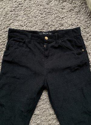 Zara Pantalone di velluto a coste nero