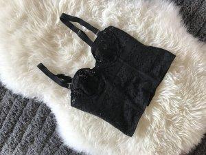 Schwarze corsage